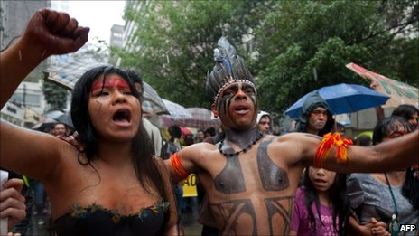 Indigenous tribes have been protesting against the project for yearsXingu Tribes