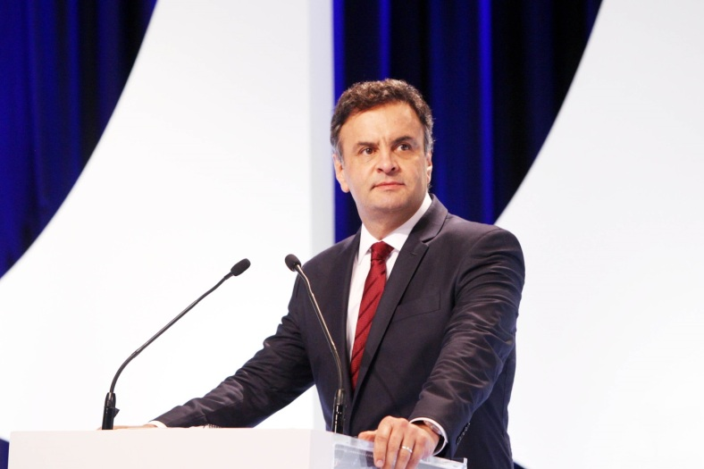 Presidential candidate Aécio Neves participates in debates held before the October 5th first round elections.
