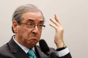 Eduardo Cunha, speaker of Brazil's lower house of Congress, denies charges linked to the Petrobras bribery scandal. PHOTO: ERALDO PERES/ASSOCIATED PRESS
